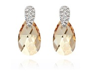 Free Shipping Wholesale Mix!Fashion Fine Jewelry,Charm Drop Crystal Earrings, make with Swarovski Elements (3-colors)