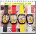 new fashion style children cartoon watch colored face cute desgin,for kids students,leather band face with giraffe