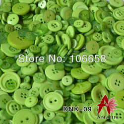 Free Shipping 50g/lot Mixed Button Fashion Fastener for Craft And DIY Button Light Green(China (Mainland))