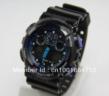 Free shipping New comeing 50pcs/lot fashion watch ga 100 watch,sports g watch ga100 has 7 color (by ems no shocked box)