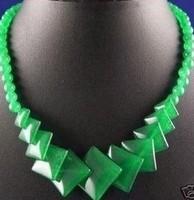 Chinese Green Jade Bead NecklaceGG