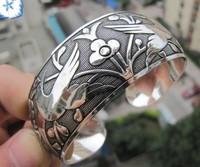 New Tibetan Tibet Silver Totem Bangle Cuff BraceletDD