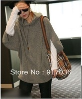 Fashion plus size loose with a hood sweatshirt , Women's casual outerwear, Hoodies
