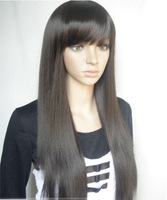 High quality,70CM 210G Indian Blended Human Hair Full lace wigs,2013 New goods,free shipping