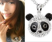 HOT SALE   sweet all-match diamond Panda fashion necklaces free shipping