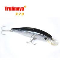 Free shipping Trulinoya  Floating   Minnow Bait fishing  fishing lure fishing hard bait  DW19 #B  Black   85mm 14g