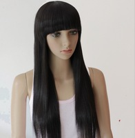 BEST PRICE,70CM 190G Indian Blended Human Hair Full wigs/Fashion wigs(#2 black,#2t33 dark brown,#2t30 light brown),free shipping
