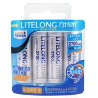 Free shipping (4pieces/card) LITELONG AA 1.2v 2700mah Ni-MH Rechargeable Battery Consumer Battery High Capacity