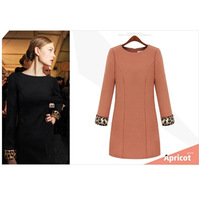 Женское платье 2013 Long-Sleeve Dress Fashion Noble Elegant Slim fit OL BF Winter skirt for Women. Black. with belt