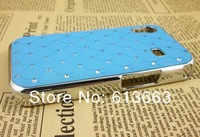 Wholesale Chrome Plated Rhinestone Bling Skin Cover Case For Samsung Galaxy Ace S5830,200pcs/lot,free shipping