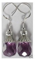 Sell one like this Pretty drop amethyst earring Fashion Jewelry