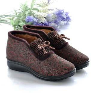 Polyurethane high-top  flatbottomed beijing cotton-made  female cotton-padded  mother  mother  winter