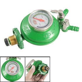 Home Bottled Compressed Gas Pressure 2 Outlet Regulator Valve Free shipping