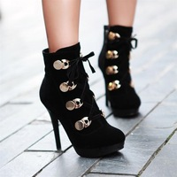 2013 hot selling spring women martin boots high fashion high heels metal decoration sexy Pumps , free shipping