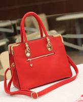 HOT SALE high quality freeshipping women's fashion vitage red marry wedding evening bridal bag leather handbag Promotion!!