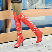 2013 spring women fashion sexy Pumps high heel hoots leather  knee high long boot , free shipping shoes
