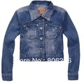 Fashion New Arrive Korean Style Casual Lapel Slim Mini Jeans Jacket  A1715