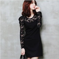 Ladies sexy cotton lace dress, casual dress women  M L XL XXL XXXL 4XL