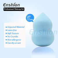 Beauty smooth makeup light blue sponge with close texture for cosmetics makeup sponge