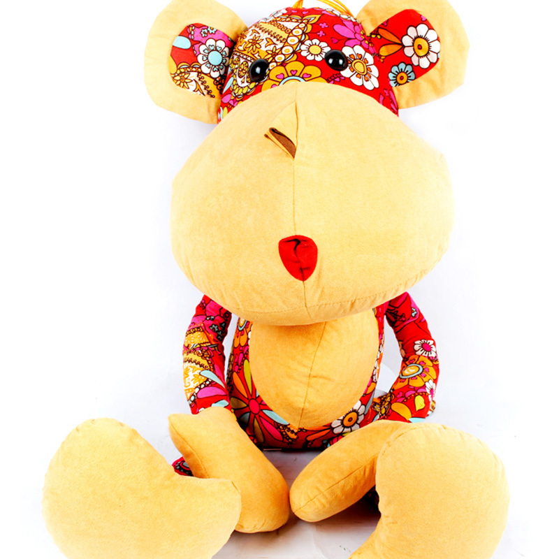 Hot Sell Cute Monkey Cloth Toys Valentine's Day Gift Christmas GiftColorful Cloth Arts Crafts Home Decoration FurnishingsFC12430(China (Mainland))