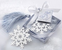 7*7*2cm Snowflake Favorites/Bookmark For Wedding Gift 20pcs/lot Stainless Steel