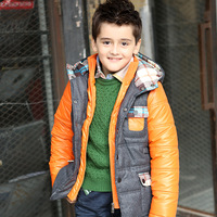 Children's clothing winter male big boy wadded jacket child cotton-padded jacket male child wadded jacket child cotton