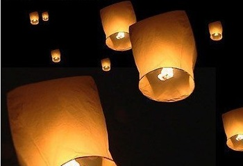 15 PCS  Sky Whishing Lantern Sky Fire  Lamp Fly Lights For Birthday Wedding Party Halloween Valentie's Day
