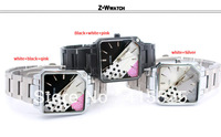 Наручные часы 2012 Christmas gifts hot brand women Exquisite Hollow Dial Leather Watch Band Fashion Transparent Women Dress wrist watches