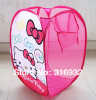 Free Shipping, Hello kitty Dirty Clothes Laundry basket, foldable, 1pc