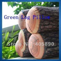 3pcs/lot New Design Nature Green Log Pillow Personality Cylindrical Wooden Pillow for Home Car