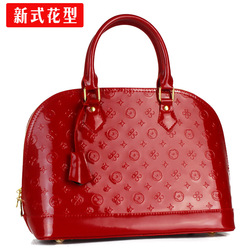 leather bag,fashion women's handbag,bridal bag,Fashion Paint Leather Handbags(China (Mainland))