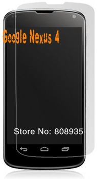 Kingcase 100pcs/lot High Scratch-resistant Screen Protector  film for For Google  LG E960 Nexus 4 with retail package