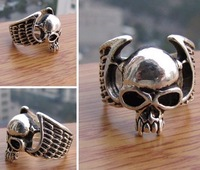 Cool tibet death's-head skull men's finger ring