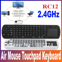 Measy RC12 2-IN-1 Smart 2.4GHz Air Mouse Touchpad Handheld Wireless Keyboard Combo Android OS white or black color Free Shipping