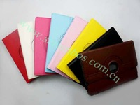 200pcs/lot New 360 Degree Rotation Tablet PC PU Leather Case Smart Cover Stand for ipad mini free shipping