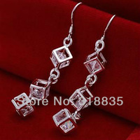 LQ-E206 Free Shipping 925 silver  wholesale fashion jewelry earring 925 silver earrings btsa kkza tcia