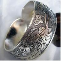 Tibetan Tibet Silver Totem Bangle Cuff Bracele