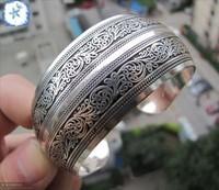 Tibetan Tibet Silver Totem Bangle Cuff
