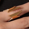 Antique Women's Elegant Cool Punk Golden Thunder Ring Girls Rings Jewelry New BJJ007