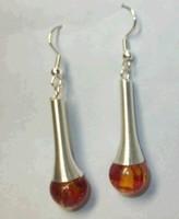unbelievable !! Pair Tibet Silver Asian man-made amber Earring