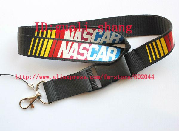 Hot 10pcs NASCAR Logo Lanyard/ MP3/4 cell phone/ keychains /Neck Strap Lanyard WHOLESALE Free shipping(China (Mainland))