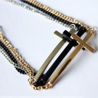 Sunshine jewelry store punk style hip hop cross bracelets & bangles s086 ( $10 free shipping )