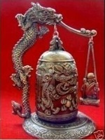 Collectible Rare handcraft MADE Bronze Dragon Bell