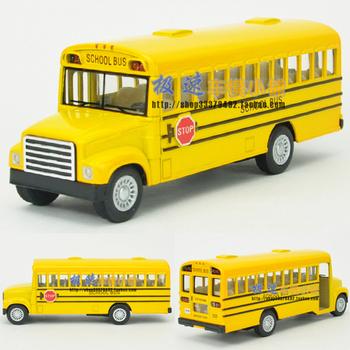 Soft world 13-year-old bus school bus WARRIOR alloy car model