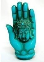 Tibet blue Statue Buddh's hand