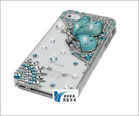 Crystal Butterfly hard case for iphone 5  mobile phone diamond cover case