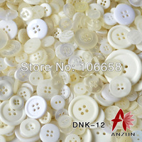 Free Shipping 50g/lot Mixed Button Fashion Fastener for Craft And DIY Button White And Ivory