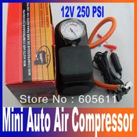 Portable Car/Auto 12V Electric Air Compressor/Tire Inflator 250PSI free shipping
