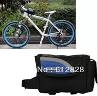 NEW Cycling Bike Bicycle Frame Front Tube Bag Blue 0.8L