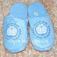"Free shipping,10"" Doraemon plush soft warm cute comfortable room house slippers doll toy christmas gift"